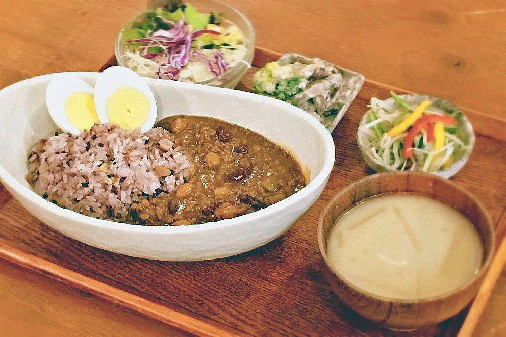 豆と牛挽肉のカレー